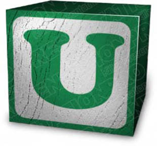 Download block u green PowerPoint Graphic and other software plugins for Microsoft PowerPoint