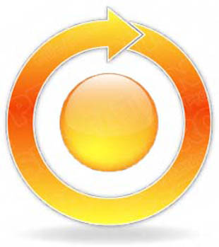 Download arrowcycle a 1orange PowerPoint Graphic and other software plugins for Microsoft PowerPoint