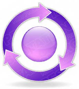 Download arrowcycle a 3purple PowerPoint Graphic and other software plugins for Microsoft PowerPoint
