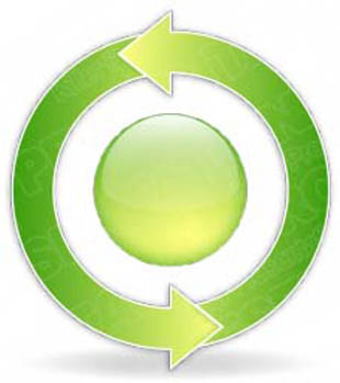 Download arrowcycle b 2green PowerPoint Graphic and other software plugins for Microsoft PowerPoint