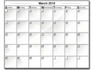 Download monthly 2010 march gray PowerPoint Graphic and other software plugins for Microsoft PowerPoint