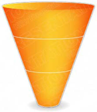 Download cone down 3orange PowerPoint Graphic and other software plugins for Microsoft PowerPoint