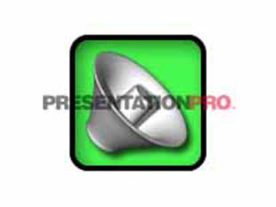 Download speaker box green PowerPoint Graphic and other software plugins for Microsoft PowerPoint
