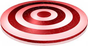Download target 01 red PowerPoint Graphic and other software plugins for Microsoft PowerPoint