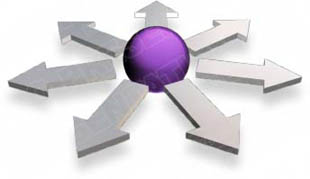 Download 3dspherearrow07 purple PowerPoint Graphic and other software plugins for Microsoft PowerPoint