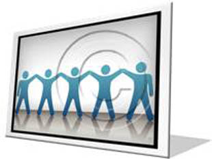 Celebrating Teamwork Blue F PPT PowerPoint Image Picture