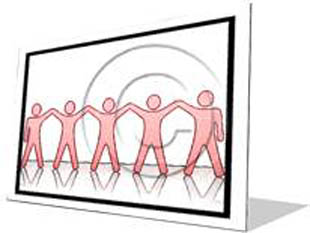 Celebrating Teamwork Red F Color Pencil PPT PowerPoint Image Picture