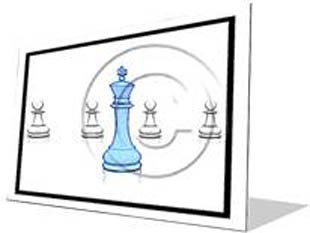 Chess Leadership Blue F Color Pencil PPT PowerPoint Image Picture