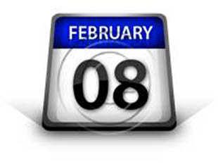 Calendar February 08 PPT PowerPoint Image Picture