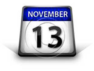 Calendar November 13 PPT PowerPoint Image Picture