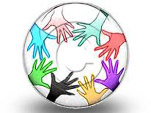 Teamwork Circleand Colors Circle Color Pencil PPT PowerPoint Image Picture