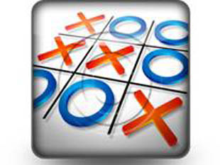 Tic Tac Toe Strategy Square PPT PowerPoint Image Picture