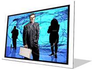 Global Business Frame Color Pencil PPT PowerPoint Image Picture