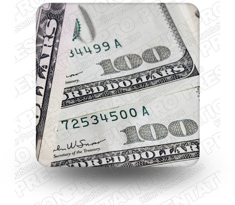 Cash 100Bills 01 Square PPT PowerPoint Image Picture