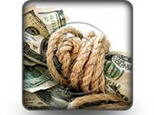 dollar bills tied with rope PPT PowerPoint Image Picture