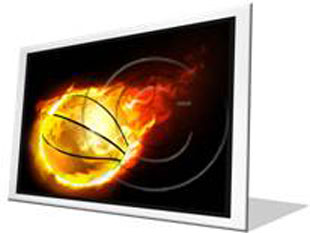 Flaming Basketball F PPT PowerPoint Image Picture