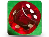 Gamble Dice 04 Square PPT PowerPoint Image Picture