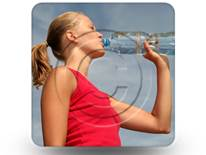 Woman Water Square PPT PowerPoint Image Picture