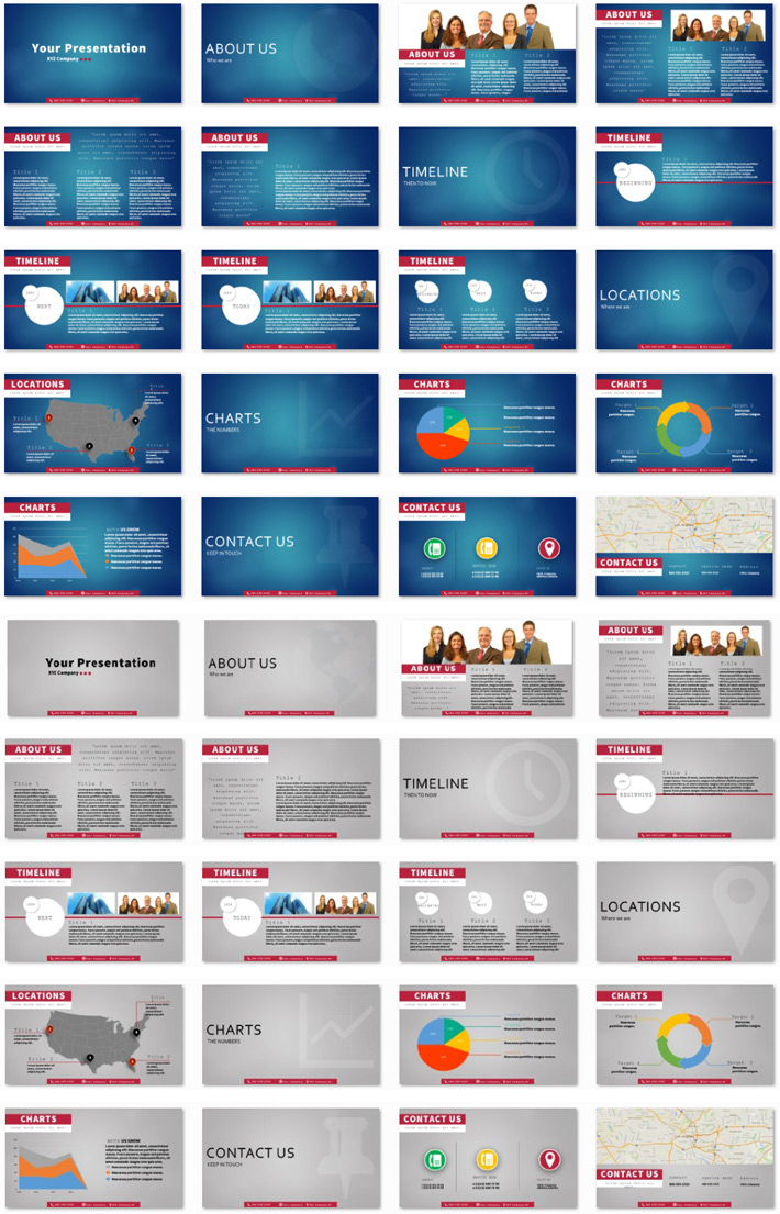 Power Presentation: Effective Minimal PPT Premium PowerPoint Presentation Template Slide Set
