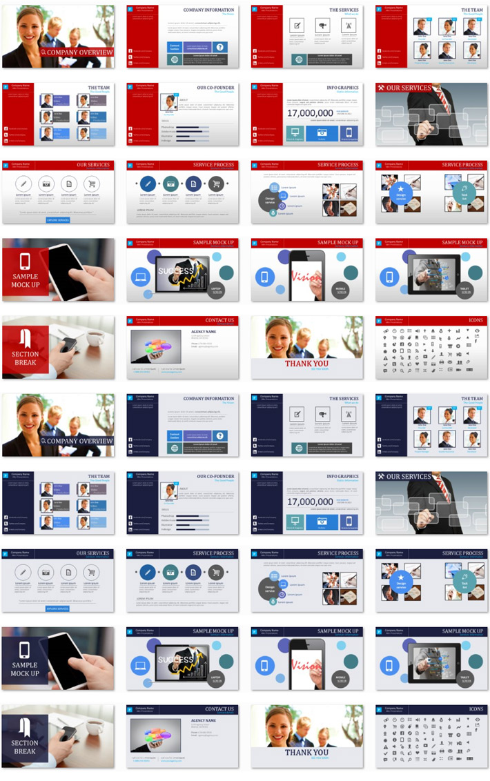 Power Presentation: The Agency PPT Premium PowerPoint Presentation Template Slide Set