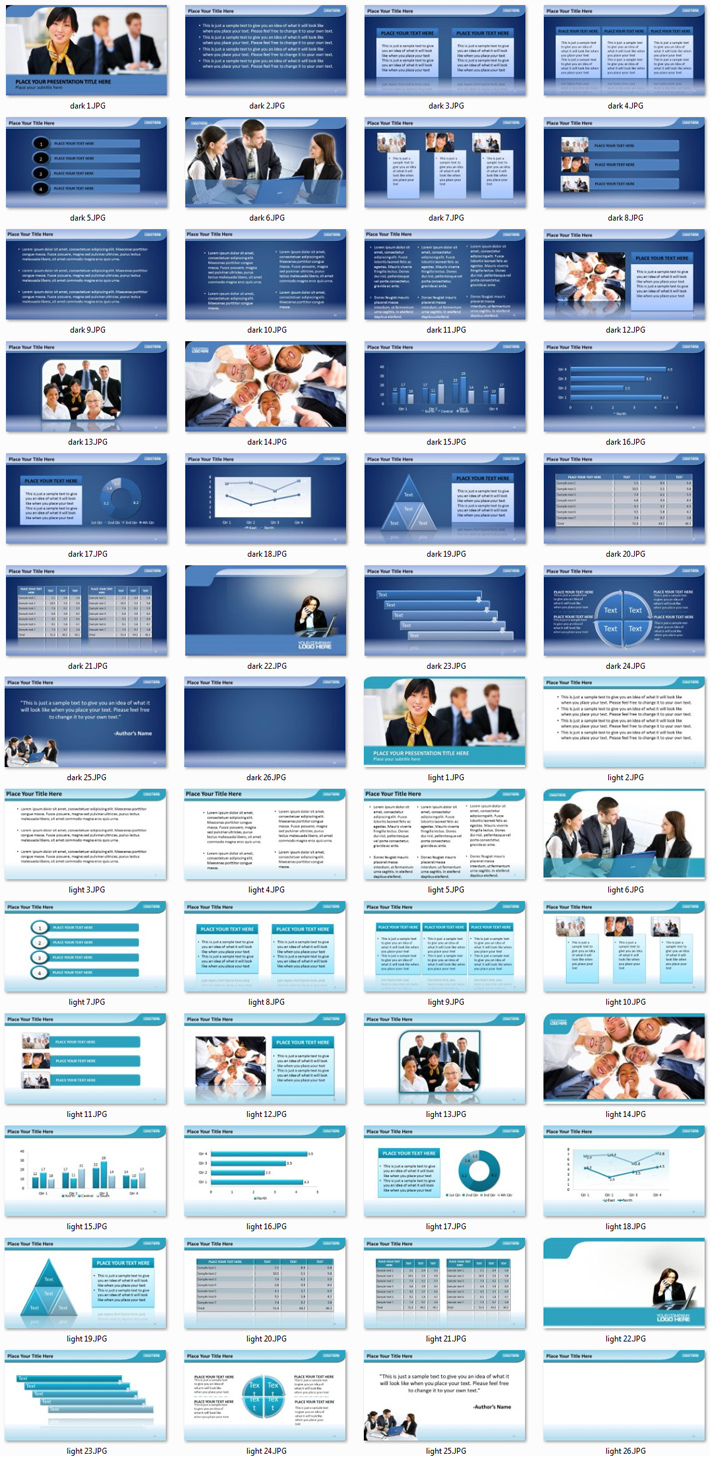 Power Presentation: Business People PPT Premium PowerPoint Presentation Template Slide Set
