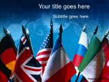 Flags - International PPT presentation powerpoint template