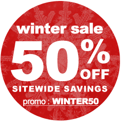 everything is 50% off! limited time offer